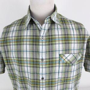 Kuhl Large Short Sleeve Shirt Button Up Plaid